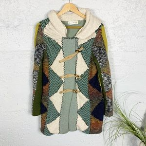 Anthropologie Harlequin Patchwork Sweater